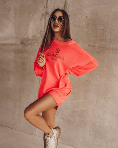 BLUZA POWER OF COLOR NEON KORAL