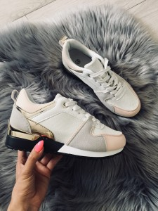 ADIDASY PINK GREY GOLD
