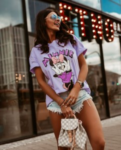 T-SHIRT MINNIE LILA